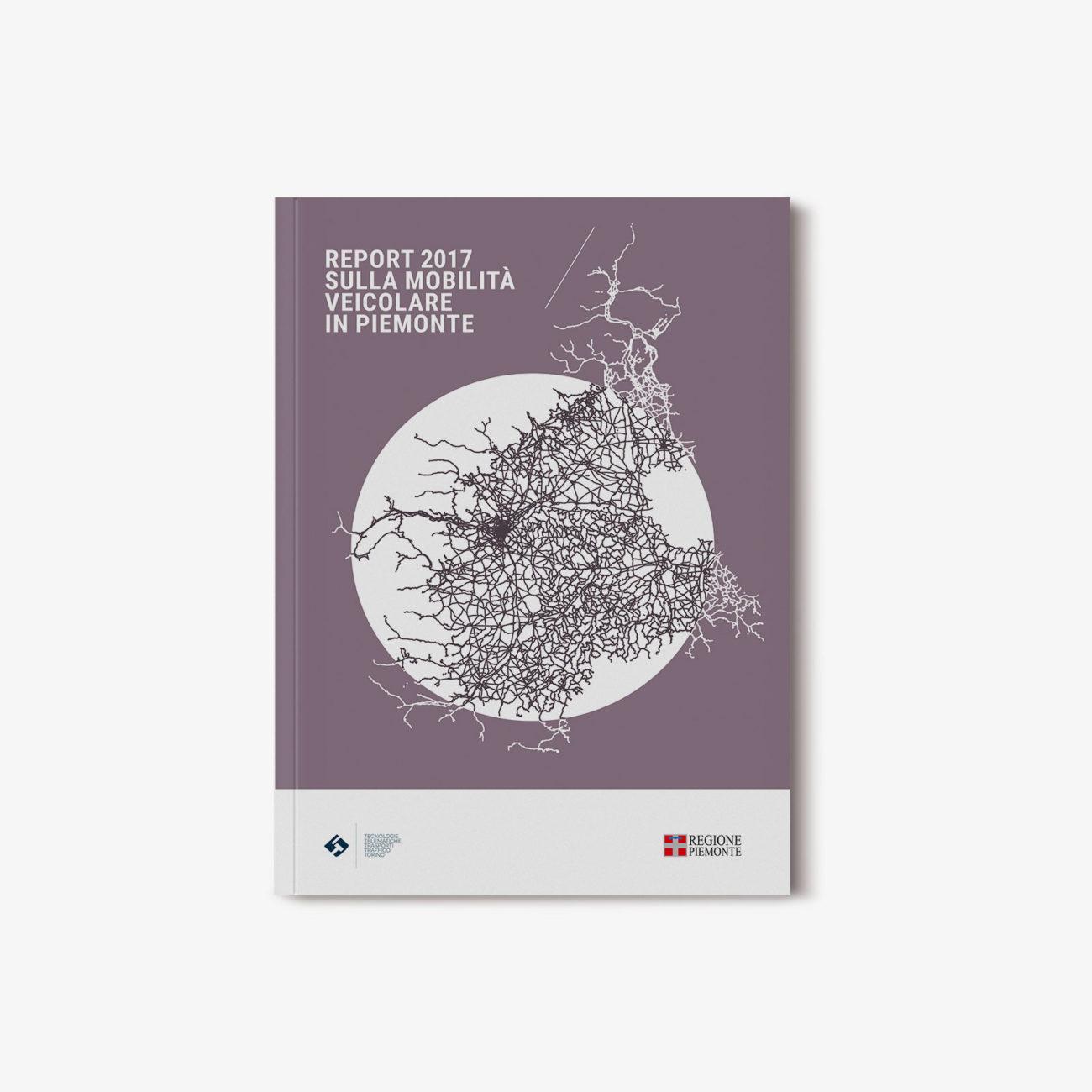 Progetto grafico report 5T mobilità Regione Piemonte