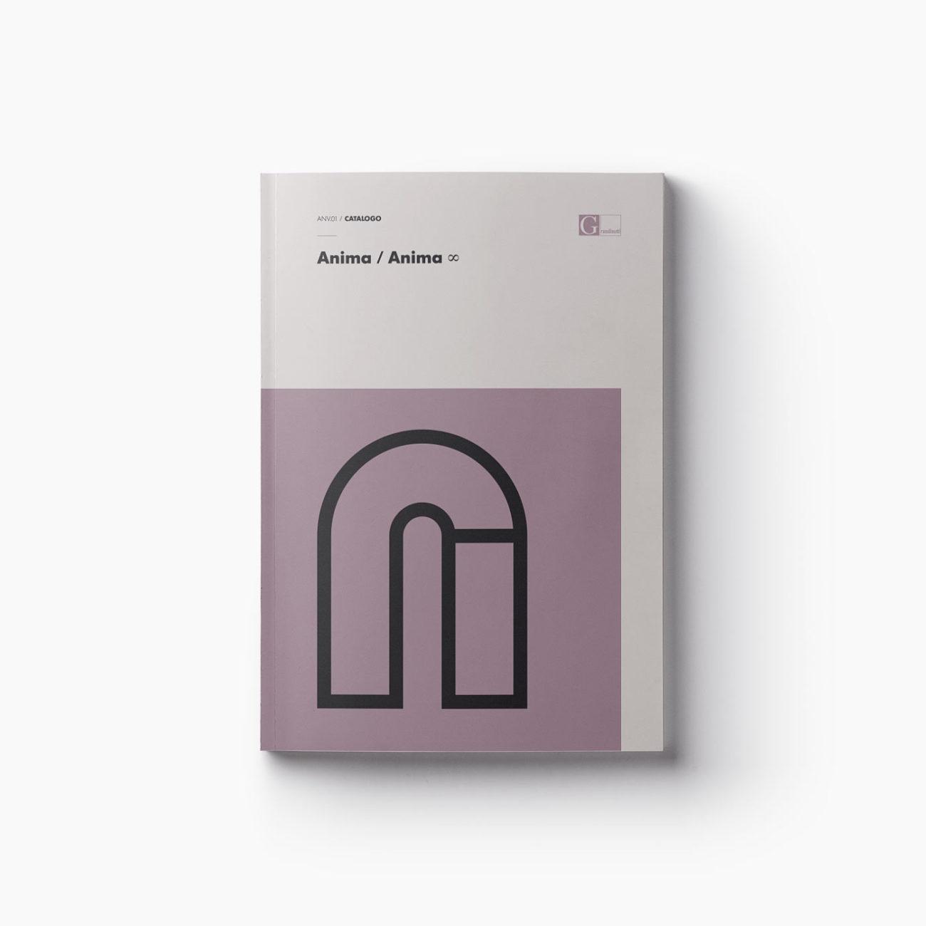 Progetto grafico copertina catalogo Anima