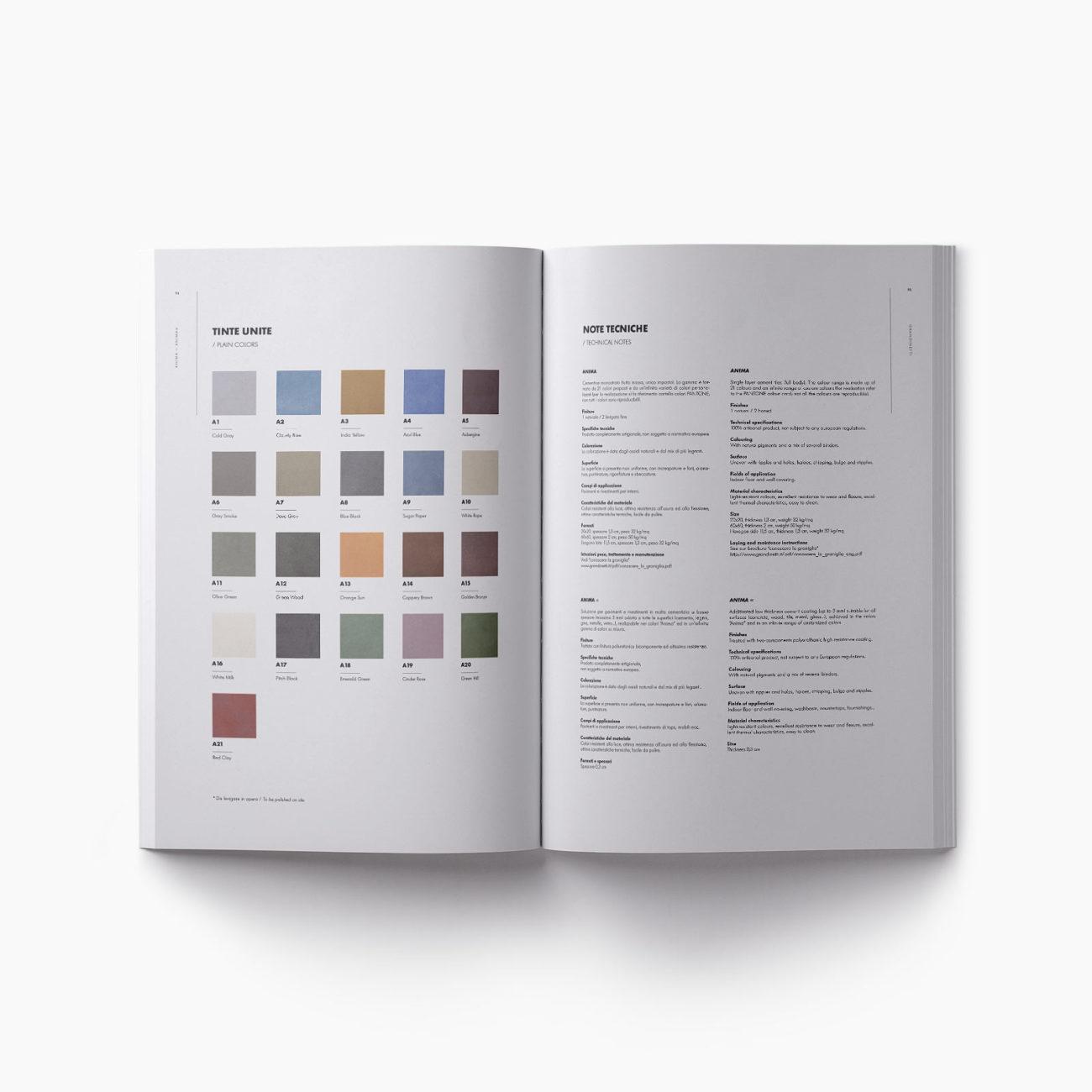 Pagine catalogo tinte unite