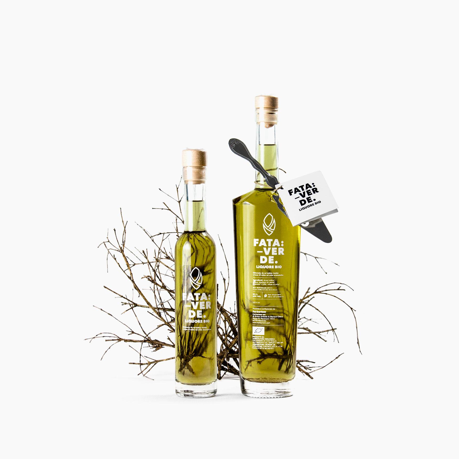 Progetto grafico etichette liquori Herbartem