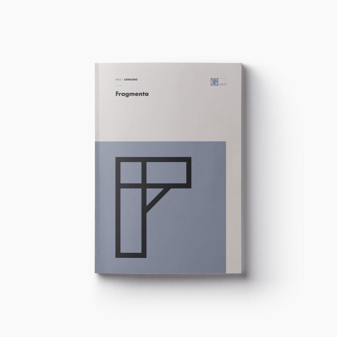 Progetto grafico copertina catalogo Fragmenta