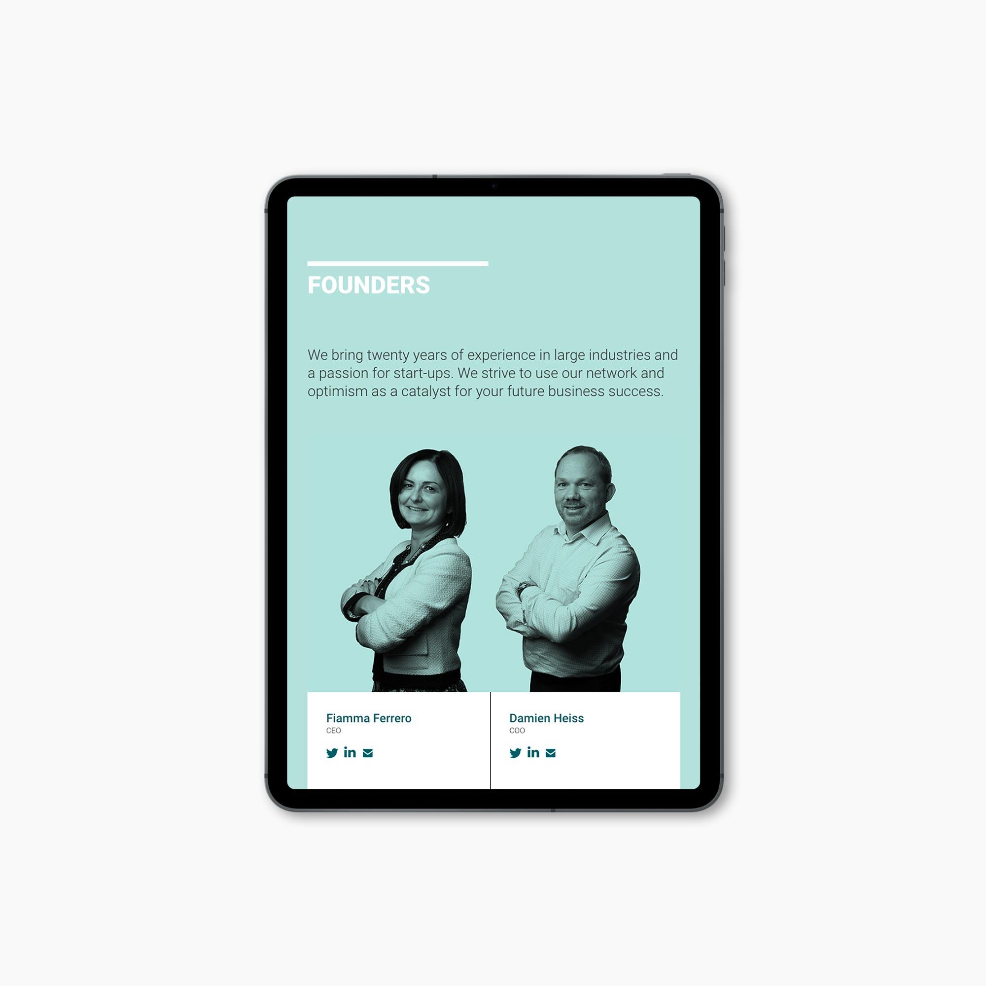 Inwibe progetto grafico sito web
