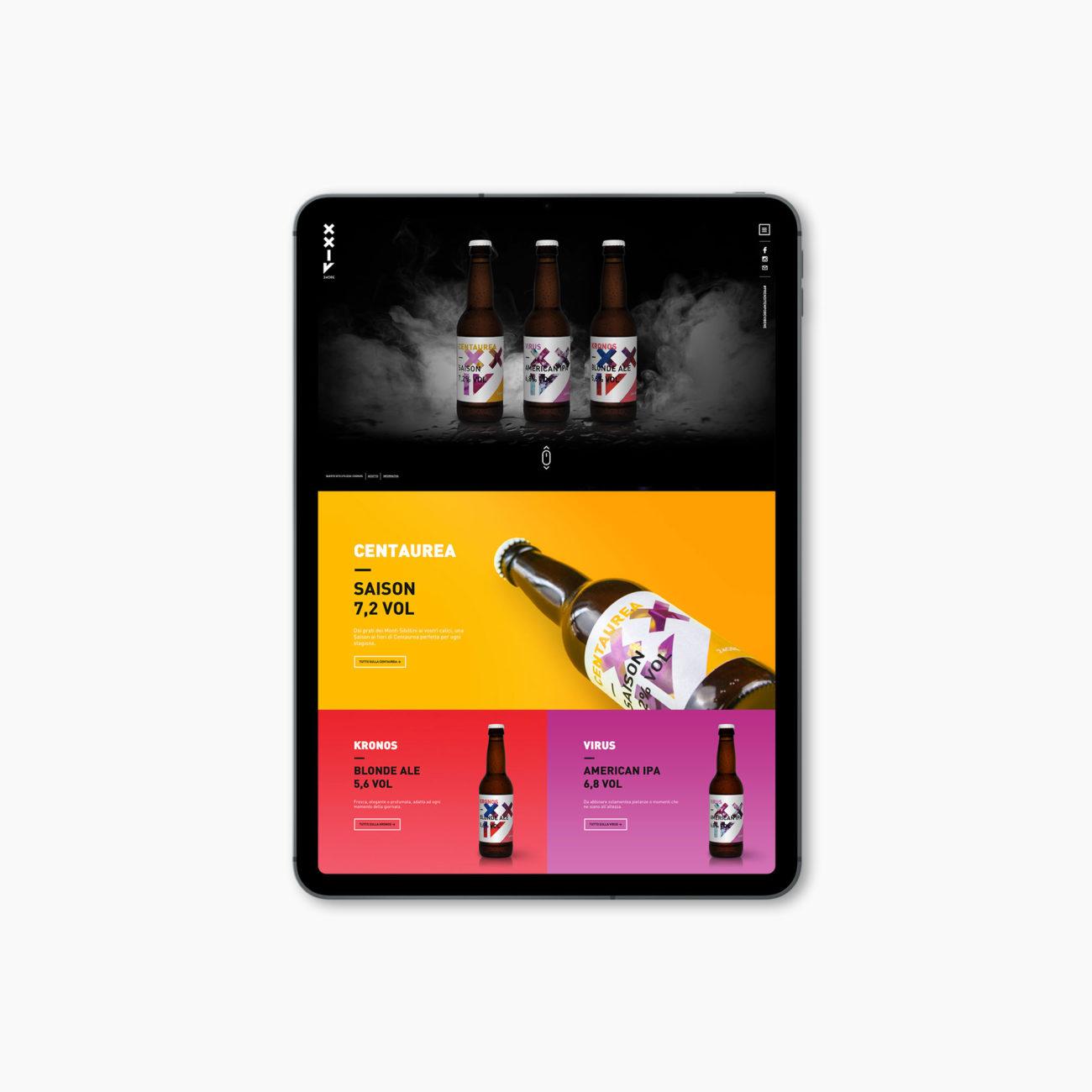 Birra 24ORE sito web progetto grafico