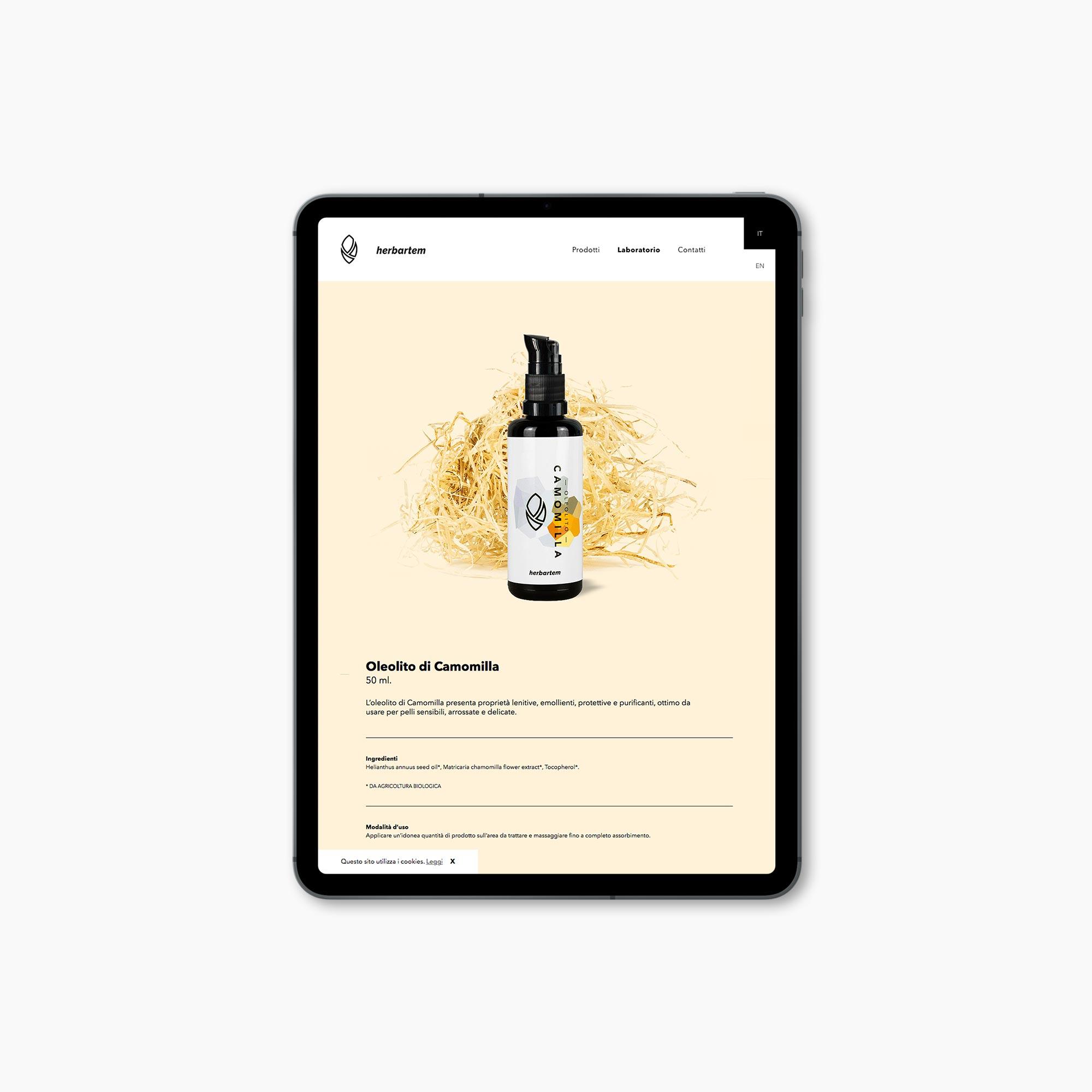 Progetto grafico pagina oleoliti